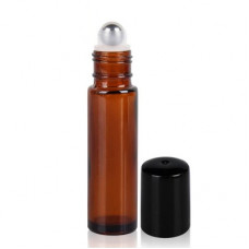 10 ml Amber Roll On Bottle With Steel Ball & Cap