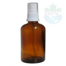 100 ml Amber Glass Bottle With White Sprayer