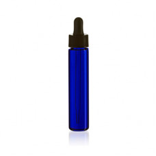 10ml Slimline Blue Glass Bottle With Dropper