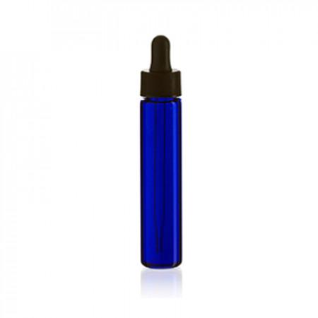 10ml Slimline Blue Glass Bottle With Dropper