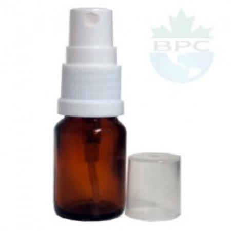 10 ml Amber Bottle With White Sprayer