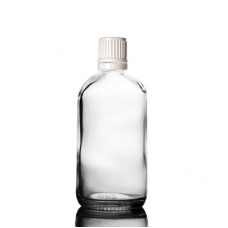 120 ml Glass Bottle With Tamper Evident White Cap