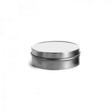 2 Oz Flat Tin With Slip On Cover Top