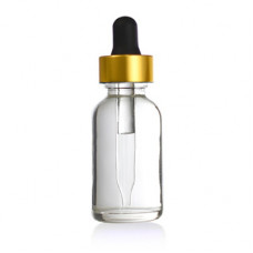 30 ml Clear Glass Bottle With Gold Dropper