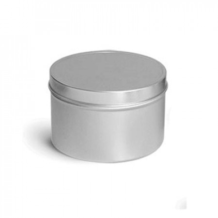 4 OZ Deep Metal Tin With Slip  Cover Top