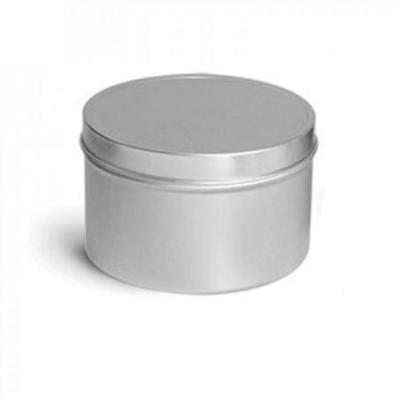 6 OZ Deep Metal Tin With Slip Cover Top