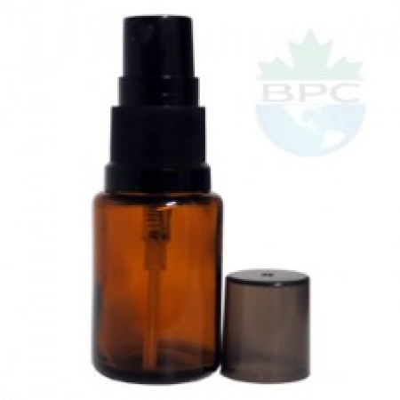 15 ml Amber Glass Bottle With Black Sprayer