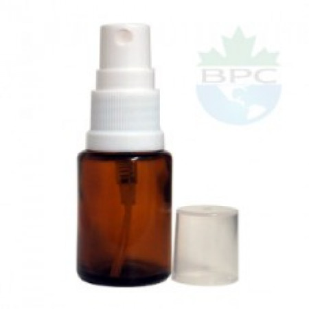 15 ml Amber Glass Bottle With White Sprayer