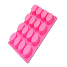 16 Cavity Oval Silicone Mold