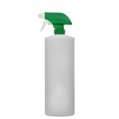 32 OZ NATURAL WITH GREEN SPRAYER