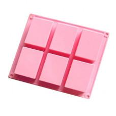 6 Cavity Rectangle Soap Mold