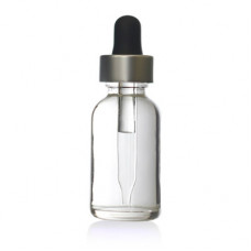30 ml Clear Glass Bottle With Silver Dropper