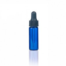 1 Dram Blue Glass Vial With Dropper