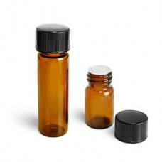 1 Dram Amber Vial With Orifice Reducer