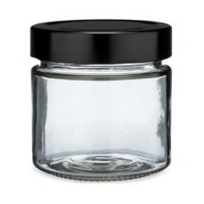 7 Oz Glass Jar With Black Twist Cap