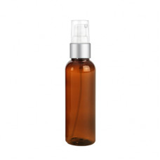 2 Oz Amber Bottle With Silver Treatment Pump