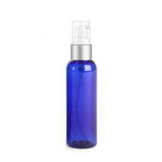2 Oz Blue Bottle With Silver Treatment Pump