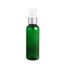 2 Oz Green Bottle With Silver Treatment Pump