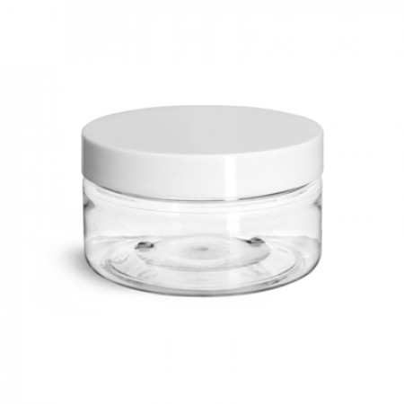 2 Oz Pet Jar With White Cap