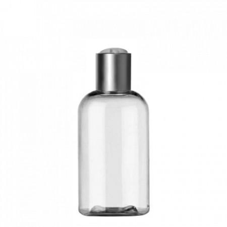 2 Oz Boston PET Bottle With Silver Disc Top