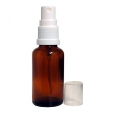 30 ml Amber Glass Bottle With White Sprayer