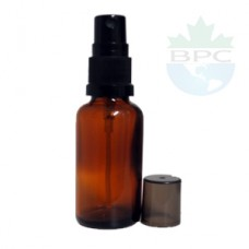 30 ml Amber Glass Bottle With Black Sprayer