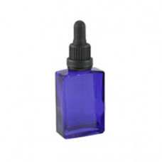 30 ml Rectangle Blue Glass Bottle With Dropper