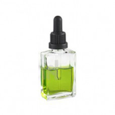 30 ml  Clear Rectangle Glass Bottle With Dropper