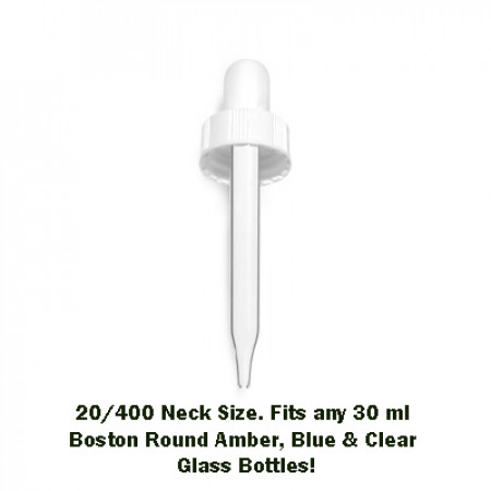 30 ml White Dropper 20/400 Neck Size
