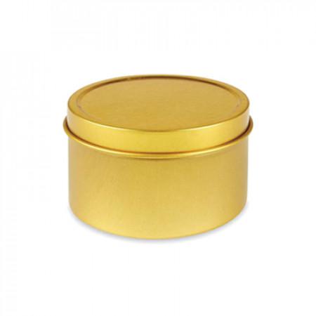 4 Oz Gold Metal Tin Jar With Slip On Top