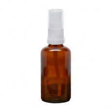 50 ml Amber Glass Bottle With Treatment Pump