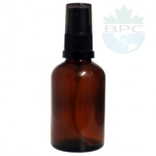 50 ml Amber Glass Bottle With Black Sprayer