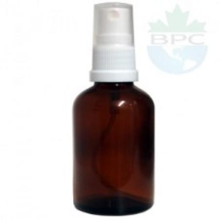 50 ml Amber Glass Bottle With White Sprayer