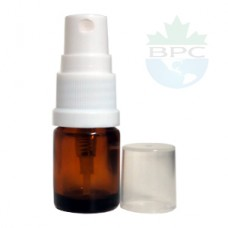 5 ML Amber Bottle With White Sprayer