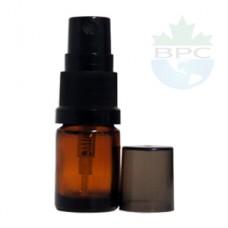 5 ML Amber Glass With Black Sprayer