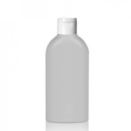 5 Oz Natural Oval Bottle With Snap Top Cap