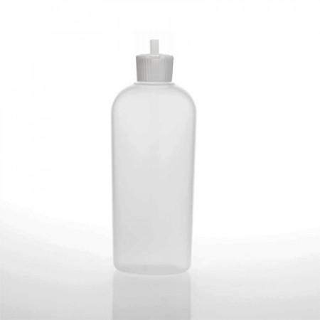 5 Oz Natural Oval Bottle With Spout Cap
