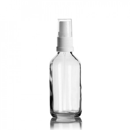 60 ml Euro Bottle With White Sprayer