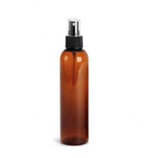 8 Oz Amber PET Bottle With Black Sprayer
