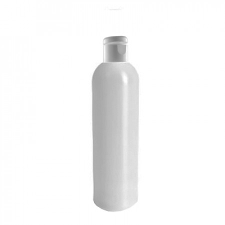 8 Oz Natural Bottle With White Snap Top Cap