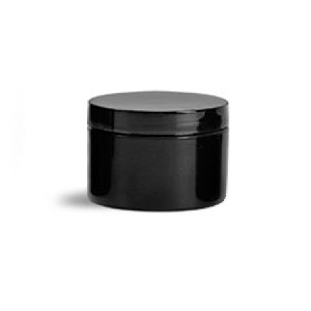 1 Oz Black Double Wall Jar With Cap