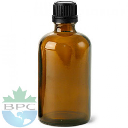 100 ml Amber Glass Bottle With Black Cap
