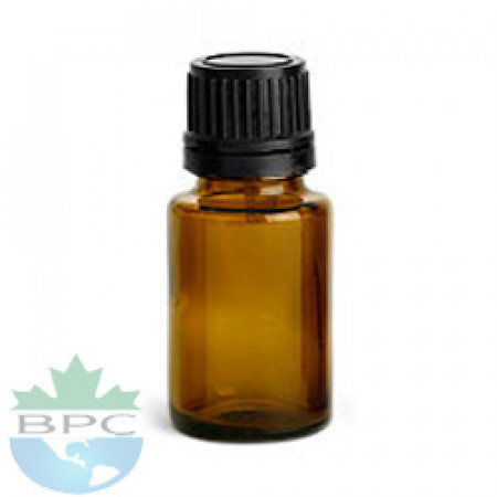 15 ml Amber Glass Bottle With Black Cap