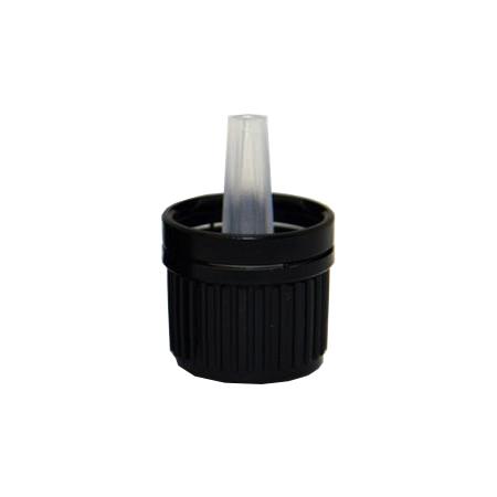 18mm Tamper Evident Black Cap
