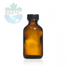 1 Oz Amber Glass Bottle With Black Cap