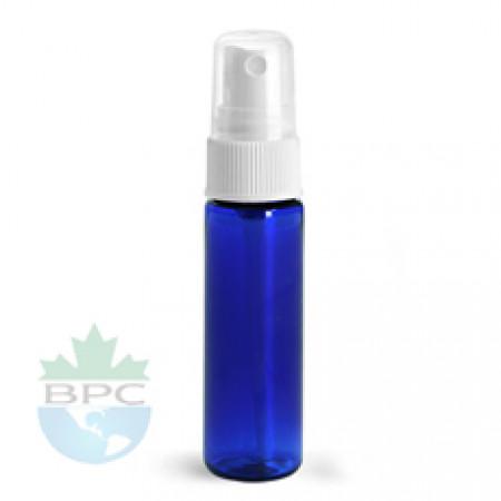 1 Oz Blue PET Bottle With White Sprayer