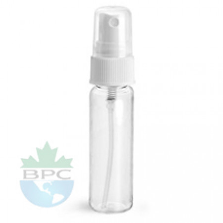 1 Oz Clear PET Bottle With White Sprayer
