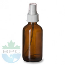 2 Oz Amber Glass Bottle With White Sprayer