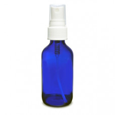 2 Oz Blue Glass Bottle With White Sprayer