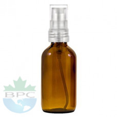2 Oz Amber Glass Bottle With Natural Sprayer